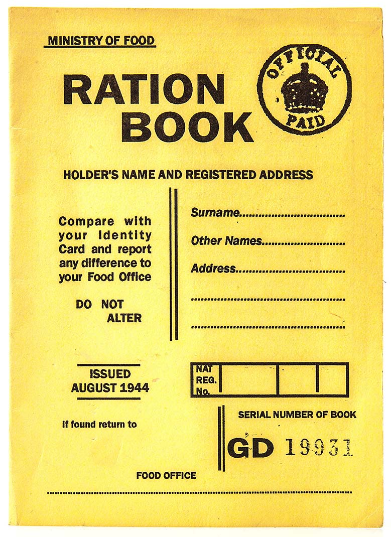 Recipes from wartime when people were on food rationing